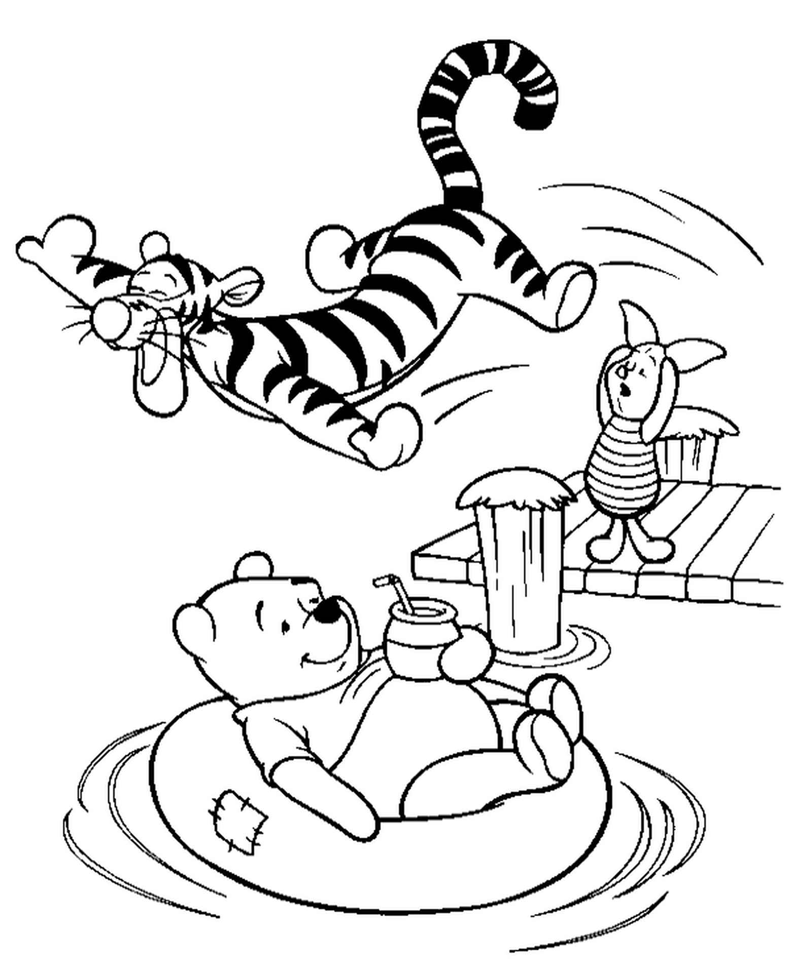 Winnie The Pooh, Piglet And Tigger