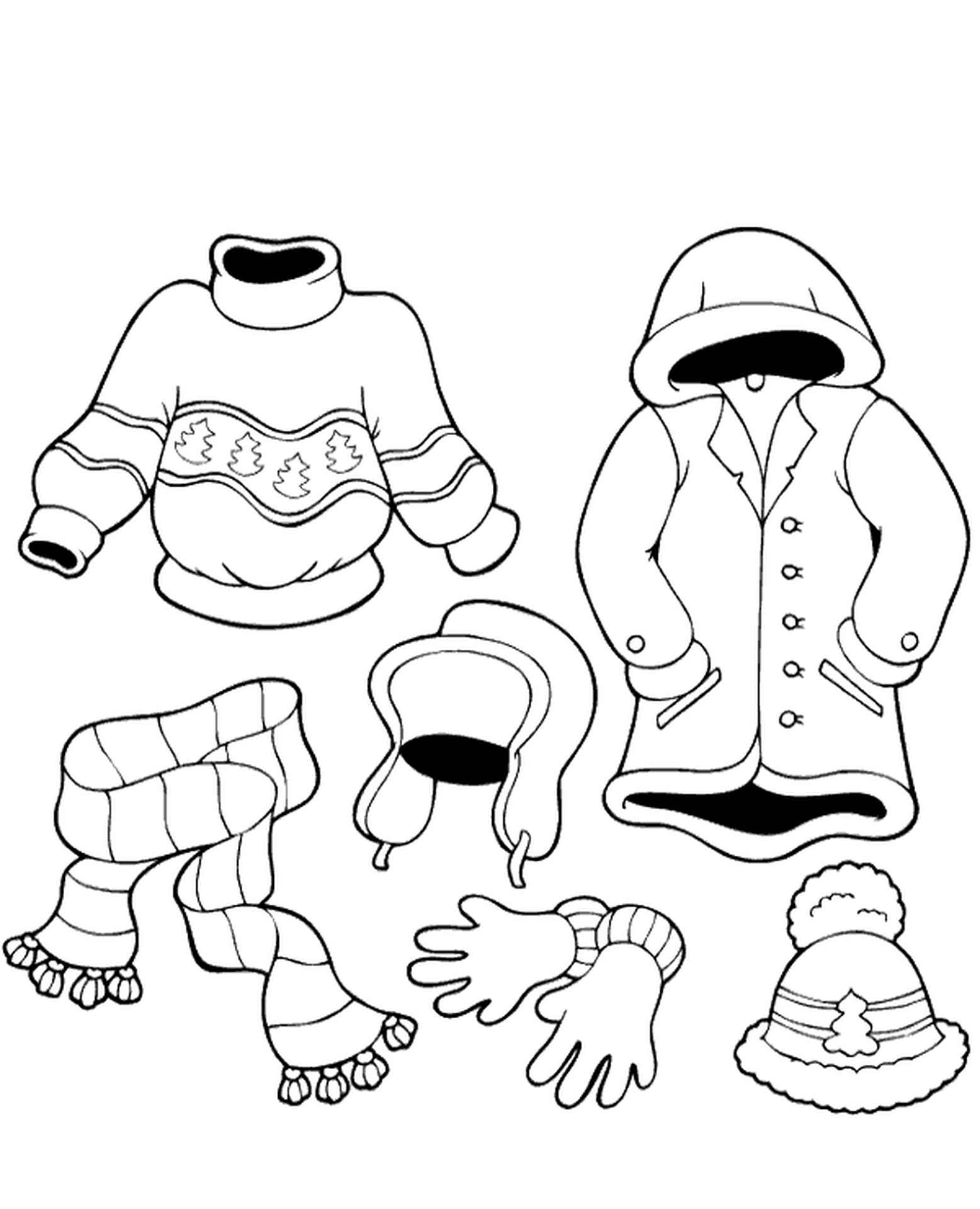 Winter Clothing Printables