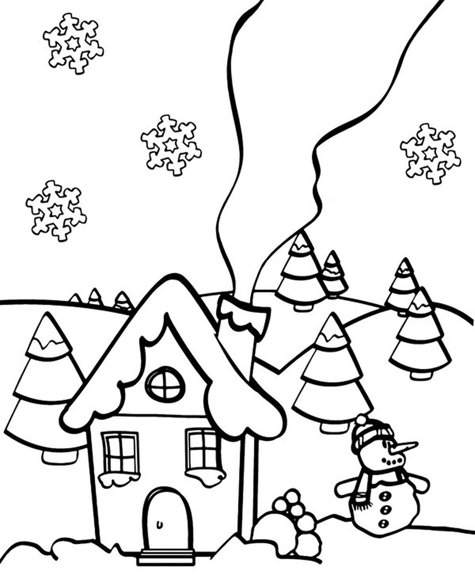 Winter Coloring Picture