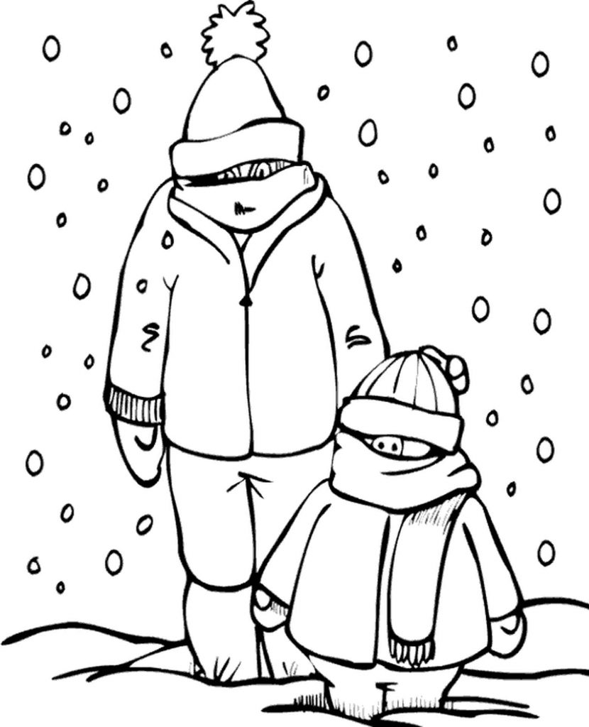 Winter Coloring Sheets For Free
