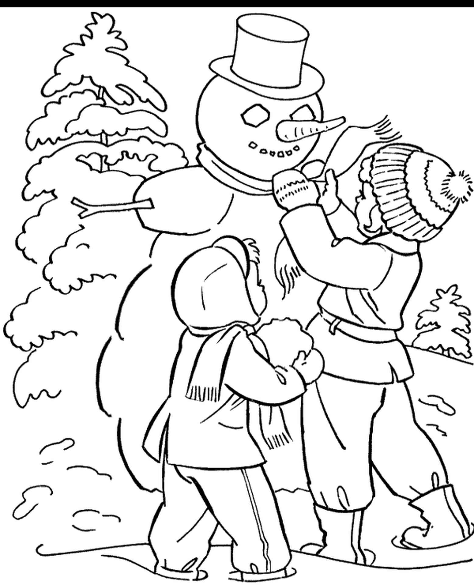 Winter Fun Coloring Page