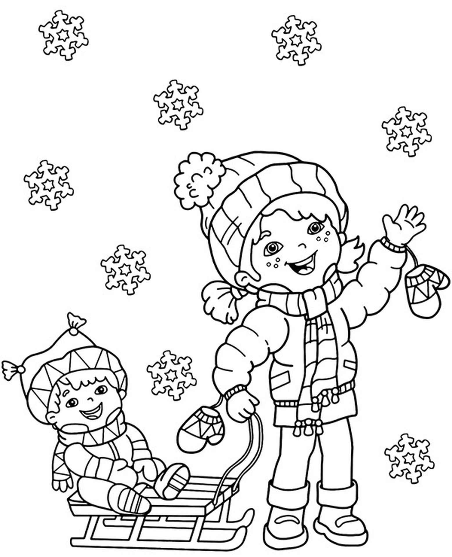 Winter Printables Kids And Snow