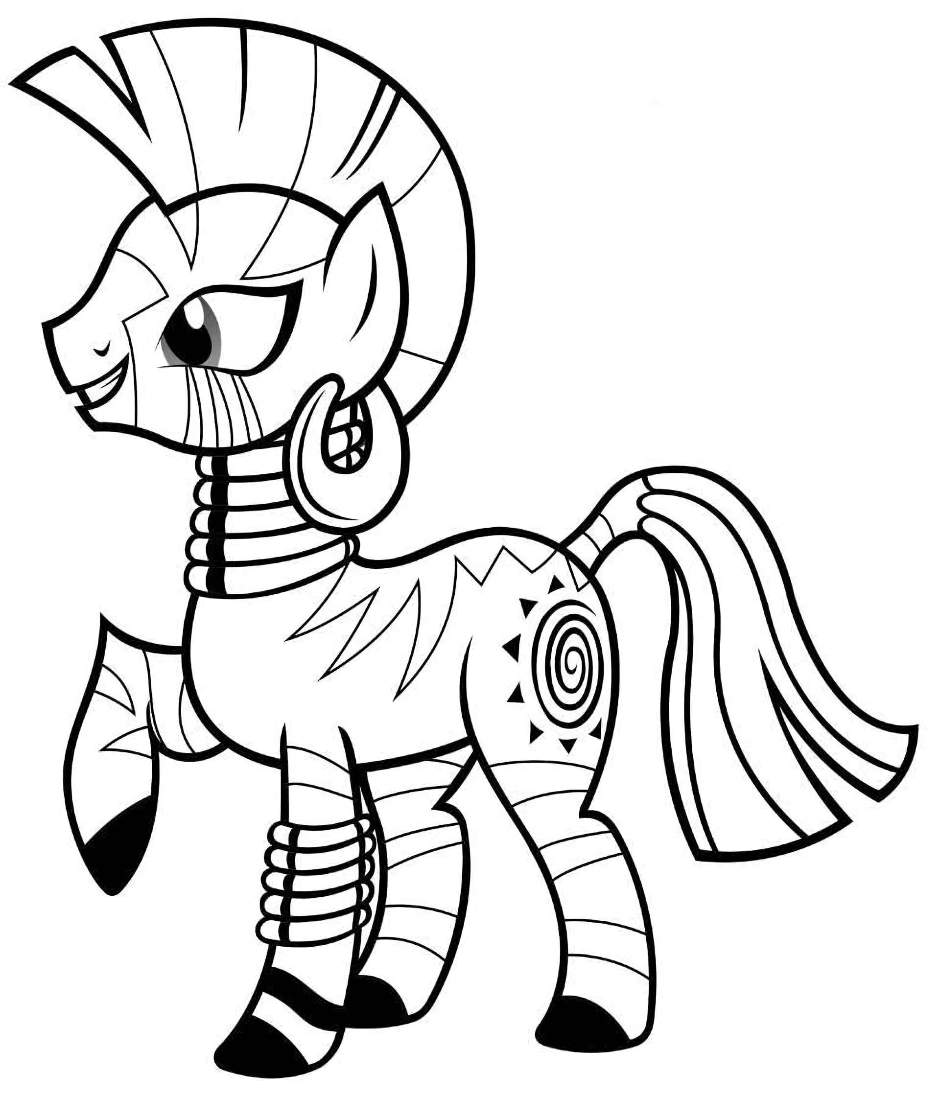Wise And Magic Pony Zecora Coloring Image