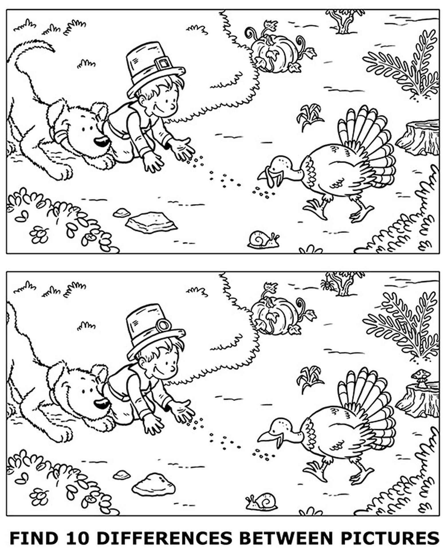 Worksheet Find 10 Differences Coloring Page
