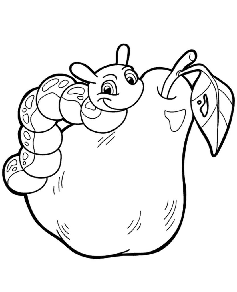 Worm On A Pear Coloring Books