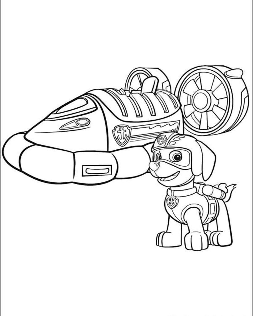 Zuma Paw Patrol Coloring Pages..